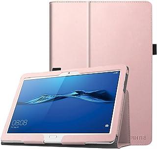Fintie Folio Funda para Huawei MediaPad M3 Lite 10 - Slim Fit Carcasa de Cuero Sintético con Función de Soporte y Auto-Reposo/Activación para 10.1 Pulgadas IPS FullHD, Oro Rosa