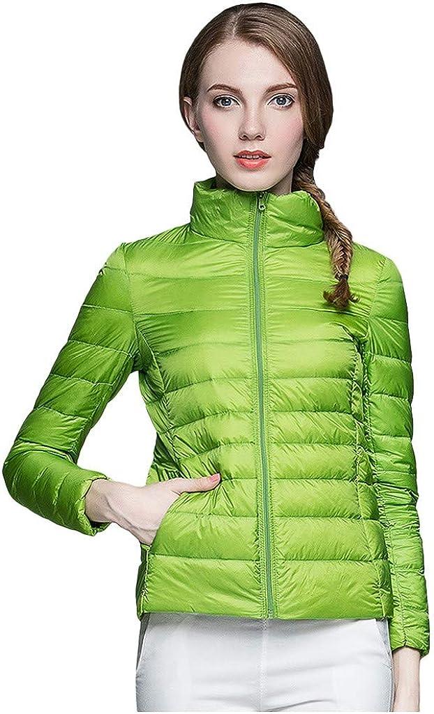NRUTUP-Women Lightweight Packable Down Jacket, Padded Softshell Jacket Winter Warm Jacket Ladies Casual Overcoat