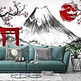 Tinta 3D Japón Flor de cerezo Fuji Mountain Wallpaper Pintado a mano Restaurante japonés Sushi Tienda Mural Sala de estar TV Papel de pared