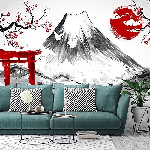 Inchiostro 3D Giappone Cherry Blossom Fuji Mountain Wallpaper Dipinto a mano ristorante giapponese Sushi Shop Murale Soggiorno TV carta da parati