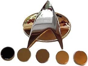 Star Trek THE NEXT GENERATION Full Size Communicator PIN and 5 Ranking PIPS