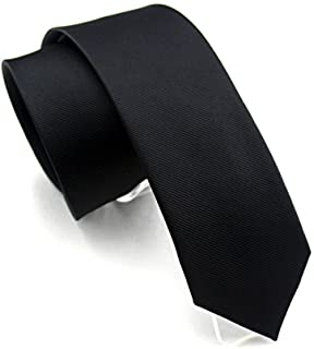 Elviros Mens Classic Solid Color Slim Tie, Skinny Woven Thin Ties, Eco-friendly Fashion Boys Neckties