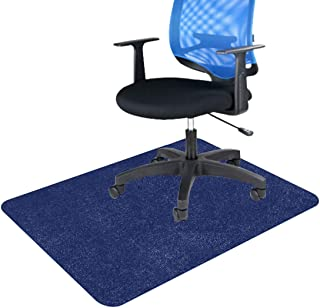 JEBBLAS Office Chair Mat Office Rug Desk Chair Mat for Hardwood Floors Hard Floor Protector Mat Multi-Purpose Chair Carpet...