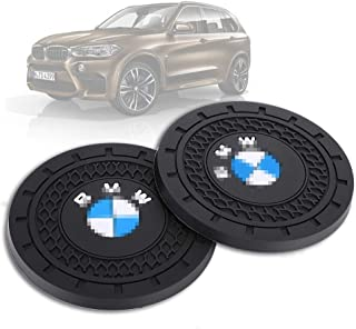 JIYUE 2 Pcs 3 inch Vehicle Travel Auto Cup Holder Insert Coaster Mat for BMW All Models