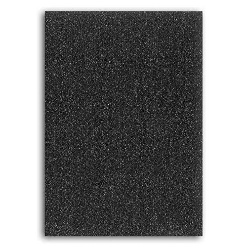 Oh, nee. Glitter Shimmer Mini Notebook, Papier, 7 x 10 x 1 cm Zwart