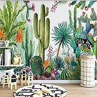 カスタム写真の壁紙現代3D緑の植物サボテンツリー壁画リビングルームテレビソファベッドルーム家の装飾抽象, 350cm×245cm