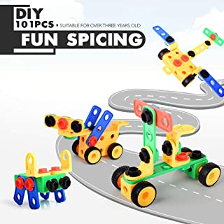 Anyren Children Learn Educational Toys and Set Up Various Building Parts to Build A Car