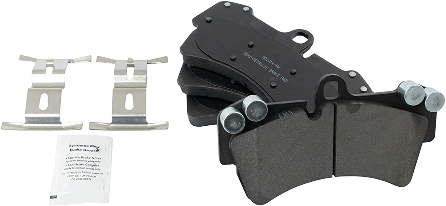 Brake Pad Rotor Front Posi Metallic With Super beauty product restock quality trust top Por Kit Compatible Audi