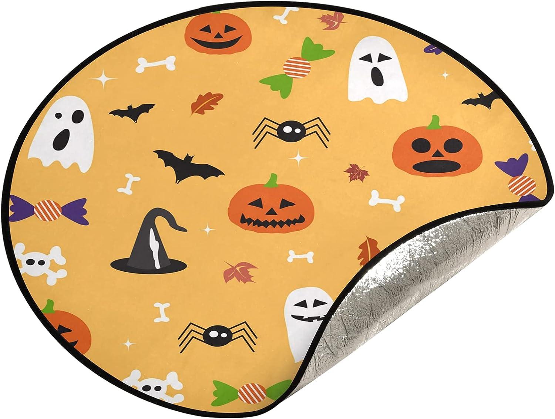 JUMBEAR Halloween Max 73% OFF Ghost Animer and price revision Pumpkin Tree Christ Stand Mat Waterproof