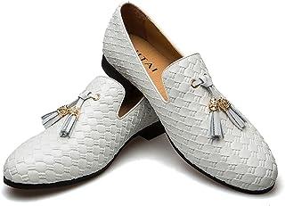JITAI Mocassins pour Hommes Chaussures Mocassins Glands Mocassins en Faux Cuir Hommes Et Femmes Chaussures Décontractées