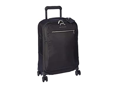Briggs & Riley Tall Domestic Carry-On Spinner (Black) Carry on Luggage
