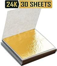 Premium Golden Yellow Edible 24k Gold Leaf Sheets 1.5