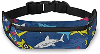 Mens/Womens Fanny Pack Abstract Panda Animal Bamboo Running Belt with Extender Belt,Bounce Free Pouch Bag,Workout Belt Sports Waist Pack Belt Pouch for Running Walking Cycling Gym Marathon Fitness Exe