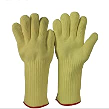 Jzw Aramid Material Flame Retardant High Temperature 500 Degree Gloves Anti-scalding Heat Insulation Cut-Proof Gloves Baking Microwave Oven