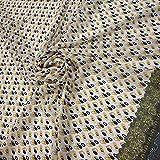 Rivin Fabrics Chiffon-Stoff, bedruckt mit schwarzen und