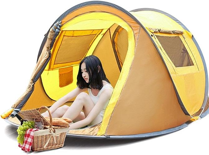 Tente de Camping extérieur en Plein air 3-4 Personnes installent Rapidement des Anti-moustiques pour Enfants en Bleu