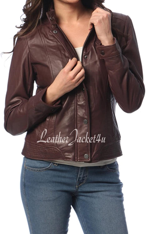 Women's Stylish Genuine Lambskin Leather Jacket 156