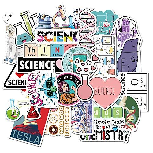 100 piezas ciencia química biología laboratorio investigación pegatinas para muebles pared escritorio...