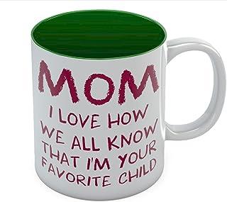 Caneca de café Mom's Best - I'm Your Favorite Child The Perfect Mother's Day, ideia de presente de aniversário do filho ou...
