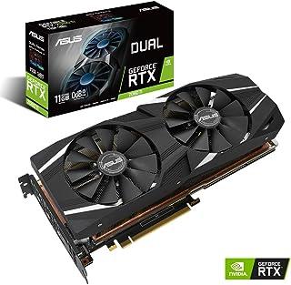 ASUS Dual GeForce RTX 2080 Ti - Tarjeta gráfica (11 GB, GDDR6, 352 bits, 7680 x 4320 Pixeles, PCI Express 3.0)