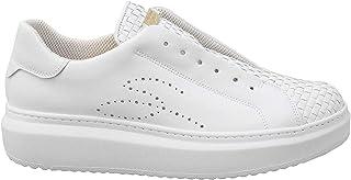 Tosca Blu Sneaker Slip-on Agata Bianca in Pelle Intrecciata - SS2101S004 S35 - Taglia