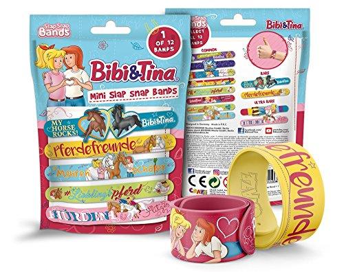 CRAZE SLAP SNAP BANDS kindersieraad klip-armband kinderarmband voor meisjes en jongens verschillende motieven BIBI & TINA 11034 Kleurrijke klimarmband.