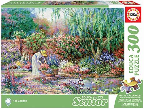 Educa Borras - Serie XXL Senior, Puzzle 300 piezas Su jardín (17981)