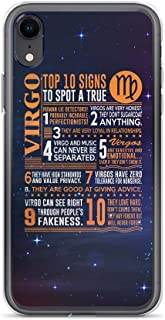 Compatible for iPhone XR Cover Case Top 10 Signs to Spot A True A True Virgo Deep Space Galaxy Stars, Clear Anti-Scratch