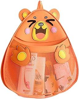 NUOLUX Bath Toy Storage Bag Bathing Toy Storage Organizer with Strong Hooks (Bear)