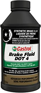 Castrol 12509-12PK DOT-4 Brake Fluid - 12 oz., (Pack of 12)