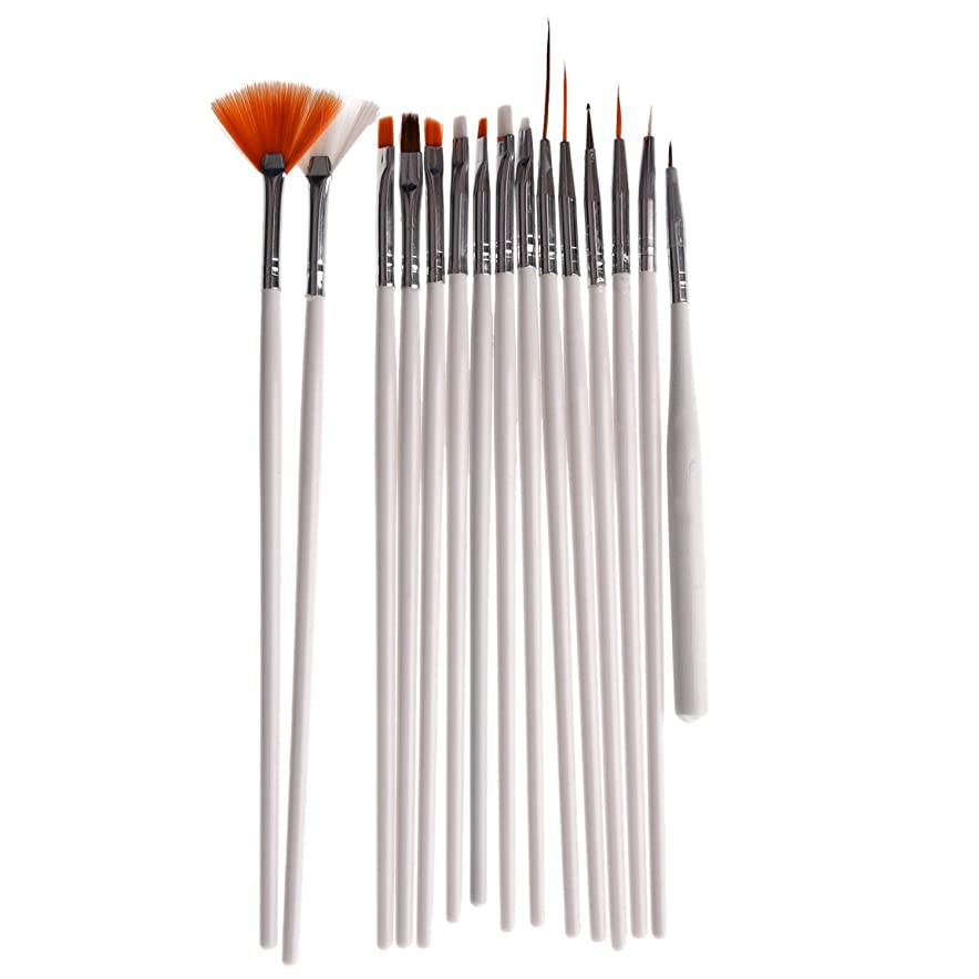 RETYLY 15pcsネイルアートのペン、ブラシ