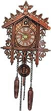 Homyl Reloj de Pared Silencioso Reloj de Cuco, Estilo Vintage de Madera Colgante Decoración Sala de Estar - 2