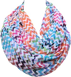 Lucky Leaf Women Lightweight Cozy Infinity Loop Scarf with Various Artist Print