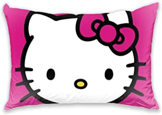 Aoliaofc Hello Kitty Pillow Covers Soft Cushion Outdoor Pillow Covers for Bedroom, Sofa, Car Pillow, Office 20X30in