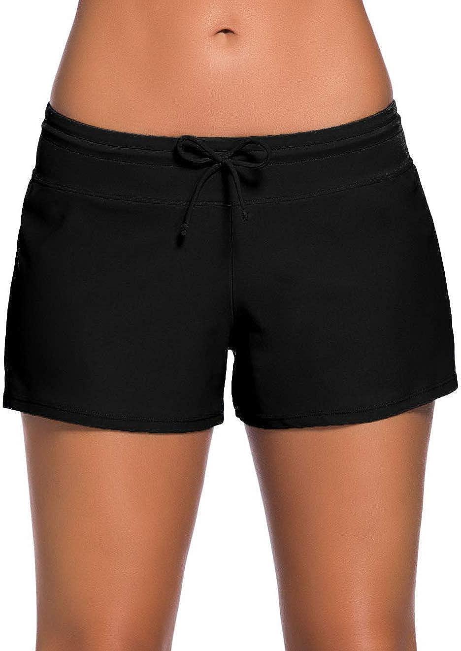 ChinFun Board Shorts Women's Swimswear Tankini Swim Briefs Swimsuit Bottom Boardshorts Beach Trunks