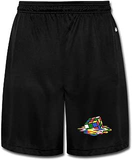 NImao Men's Melting Magic Cube Shorts Sweatpants