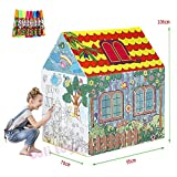DEBRIS TIME Tienda de juegos para niños Pintado graffiti carpa infantil princesa castillo tienda bola piscina