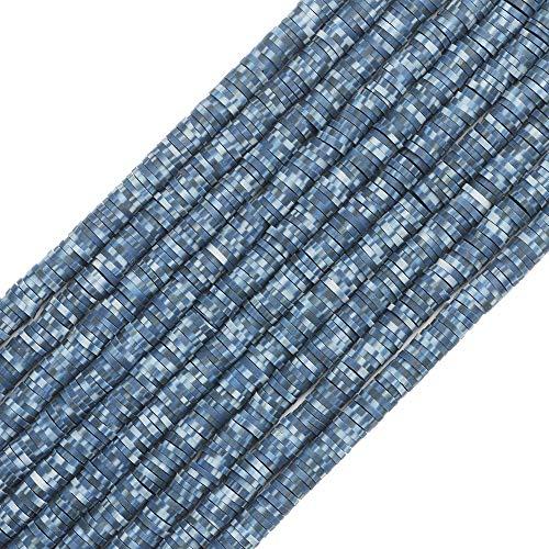 COIRIS 3400 cuentas de vinilo mixcolor Heishi hechas a mano con polímero, 6 mm, cuentas espaciadoras de arcilla para surfista, collar y pulsera, pendientes, fabricación de joyas (RT-B06Mix)