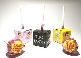 10 Lecca Lecca in Box con stampa personalizzata vari gusti