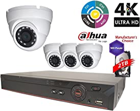 Dahua OEM Penta-brid 1080P Security Package: 8CH 1080P Penta-brid XVR5108 5 in 1 (CVI TVI AHD IP and Analog) w/2TB Security Hard Drive+(4) 2MP Outdoor IR HDW1200 3.6MM Eyeball (NO LOGO Local Support)
