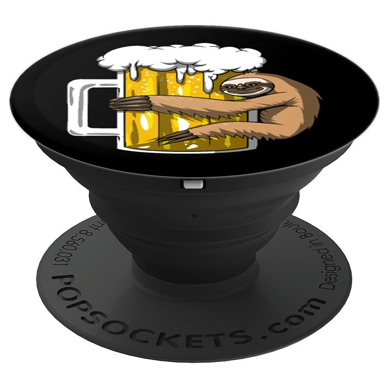 Lazy Sloth Beer Drinking Party Funny Women Men - PopSockets Grip and Stand for Phones and Tablets