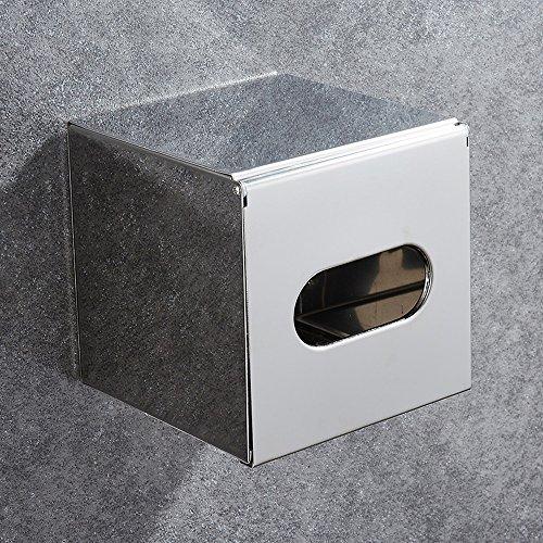 Rishx Edelstahl-Bad-Toilettenpapierhalter, Wandmontierte Wasserdichte Wandeinbau Wandhalterung Toilettenpapierhalter Mit Abdeckung