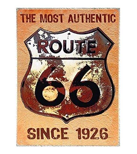 UNiQ Designs Vintage Tin Signs-US Route 66 Since 1926 Road Signs Decor -Route 66 Decor Vintage Metal Signs-Perfect Road Signs,Garage Signs and Decor Metal Wall Signs Mancave Signs and Decor 12x8