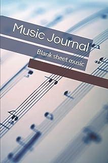 Music Journal: Blank sheet music