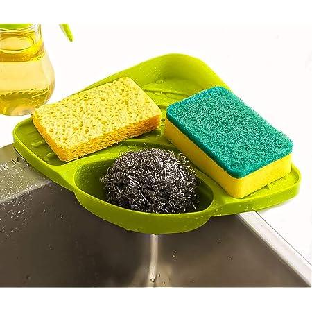 VR Multipurpose Corner Kitchen Sink Wash Basin Storage Organizer Rack (Multi-Color, Pack of 1)