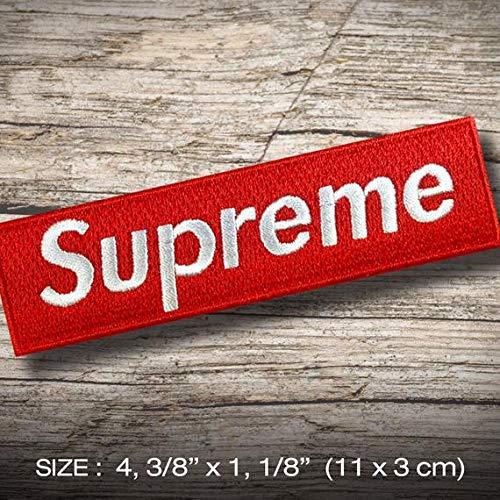 Supreme or sew etc parche patch bordado con logotipo para planchar de hierro en apliques