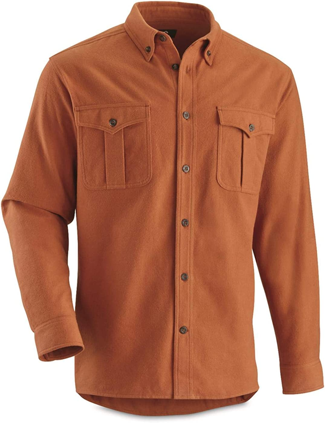 Guide Gear Men's Button Up Shirt Long Sleeve Chamois Cotton for Work Or Casual