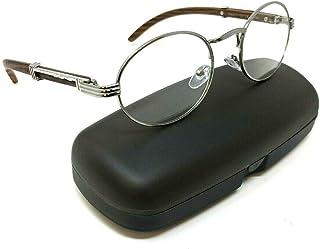 c5484e2911 Scholar Luxury Oval Metal   Wood Eyeglasses Clear Lens Sunglasses