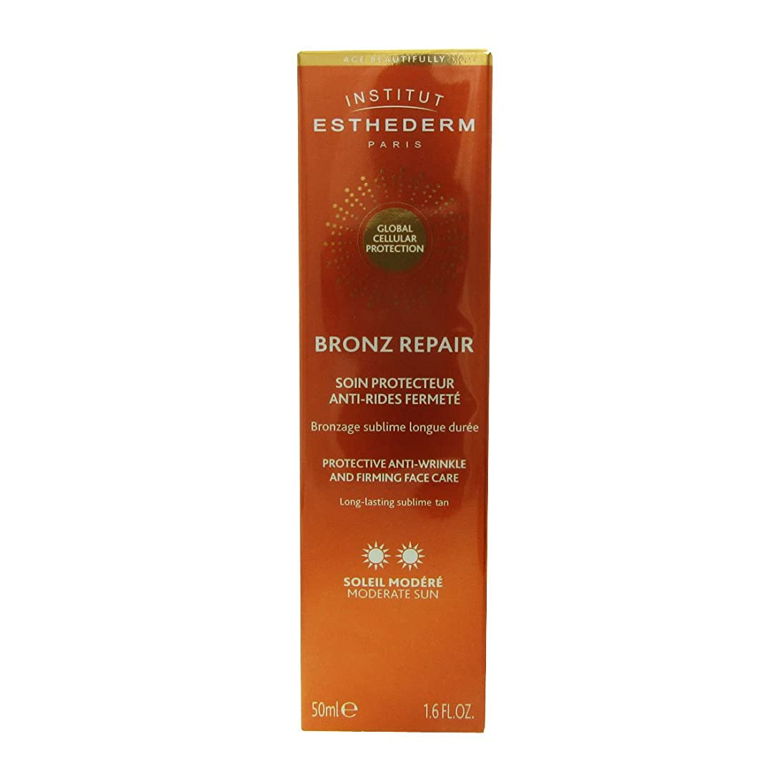 ルネッサンス有望センサーInstitut Esthederm Bronz Repair Protective Anti-wrinkle And Firming Face Care Moderate Sun 50ml [並行輸入品]