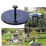 Solarbrunnen Runde Solarbrunnen Schwimmender Vogel Badbrunnen Gartenbrunnen Brunnen Brunnen Brunnen Brunnen für Teich, Vogelbad, Gartendekoration
